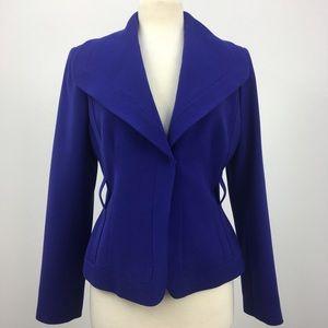 Calvin Klein Royal Blue Snap Button Stretch Blazer